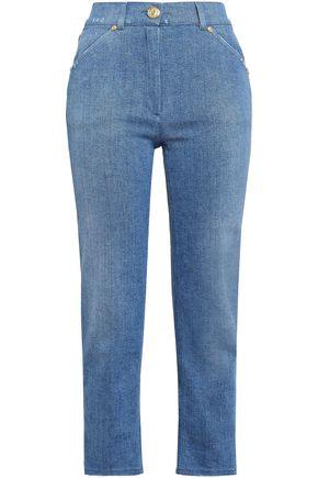 BALMAIN Cropped mid-rise slim-leg jeans