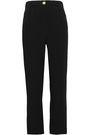BALMAIN Satin Trimmed cady straight-leg pants