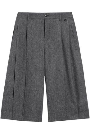 GUCCI Herringbone wool-blend shorts