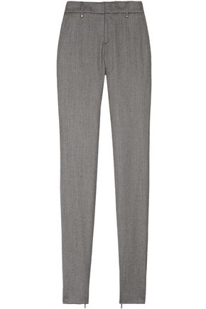 GUCCI Birds Eye stretch-wool slim-leg pants
