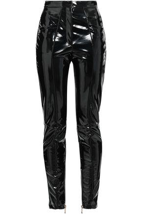 BALMAIN Vinyl slim-leg pants
