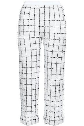 BALMAIN Checked intarsia-knit slim-leg pants