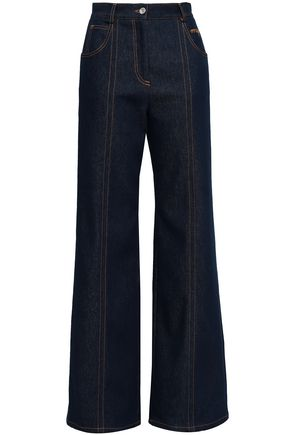 MSGM High-rise wide-leg jeans