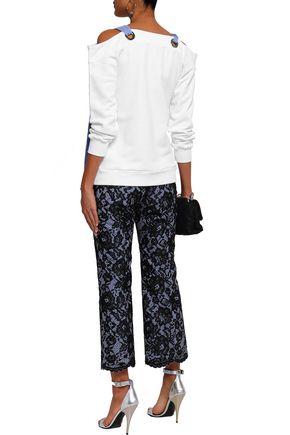 MSGM Corded lace boot-leg pants