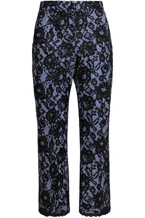 MSGM Corded lace boot-leg pants