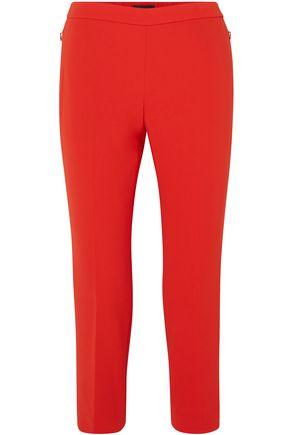 THEORY Cropped crepe slim-leg pants