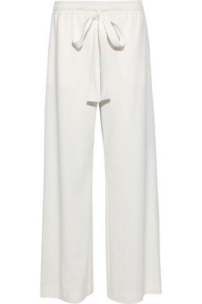 SEE BY CHLOÉ Washed stretch-crepe wide-leg pants