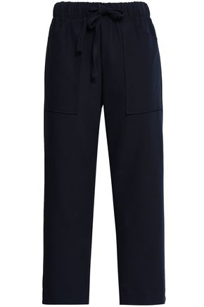 MAJE Pavot cropped crepe straight-leg pants