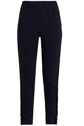 MAJE Prune snap-detailed crepe tapered pants