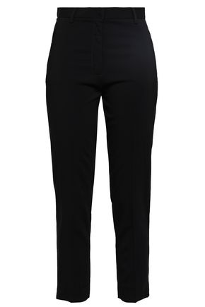 MAJE Plaza cropped twill tapered pants