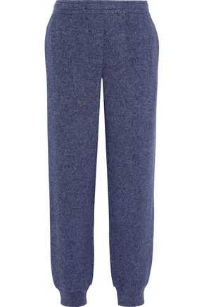 SEE BY CHLOÉ Marled cotton-blend fleece track pants