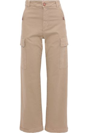 SEE BY CHLOÉ Button-detailed cotton-blend twill wide-leg pants