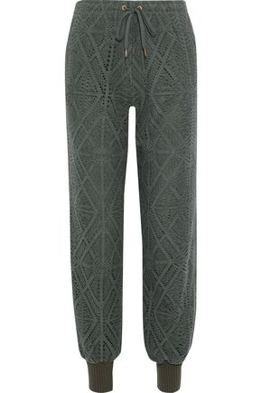 SEE BY CHLOÉ Pointelle-knit track pants