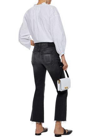 AMO Distressed mid-rise kick-flare jeans