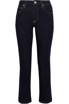 AMO Babe cropped high-rise slim-leg jeans