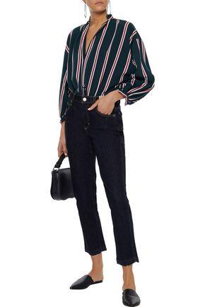 AMO Babe cropped high-rise slim-leg jeans