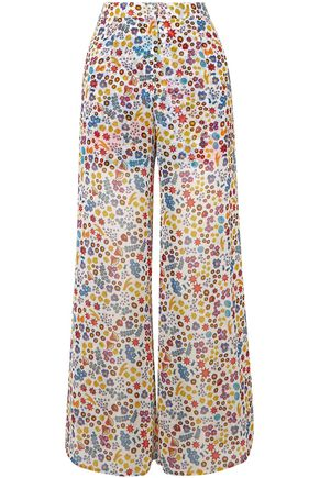 ALL THINGS MOCHI Bora printed chiffon wide-leg pants