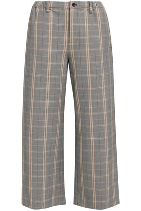 MAJE Prince of Wales checked woven culottes