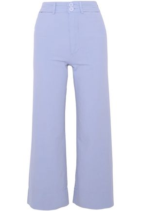 APIECE APART Merida cropped cotton-canvas wide-leg pants