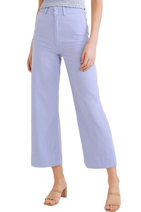 APIECE APART Merida cropped cotton-canvas wide-leg pants
