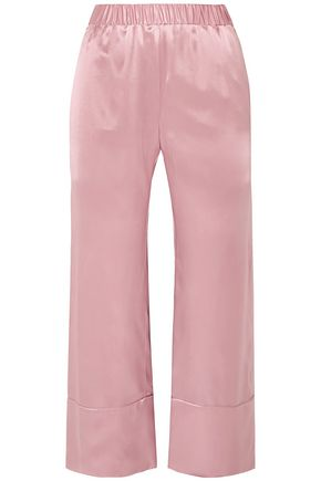 DEITAS Silk-satin wide-leg pants