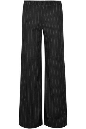 HELLESSY Striped wool-blend wide-leg pants