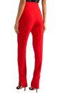 KHAITE Diana stretch-canvas tapered pants