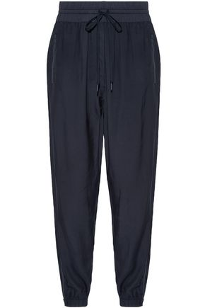 DKNY Paneled shell and twill track pants