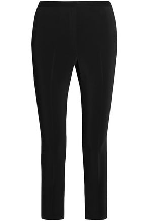 ROSETTA GETTY Cropped crepe slim-leg pants