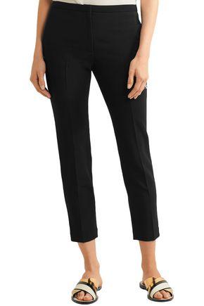 ROSETTA GETTY Cropped crepe slim-leg pants