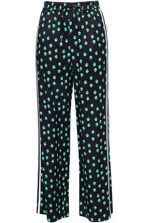 MAJE Printed crepe wide-leg pants