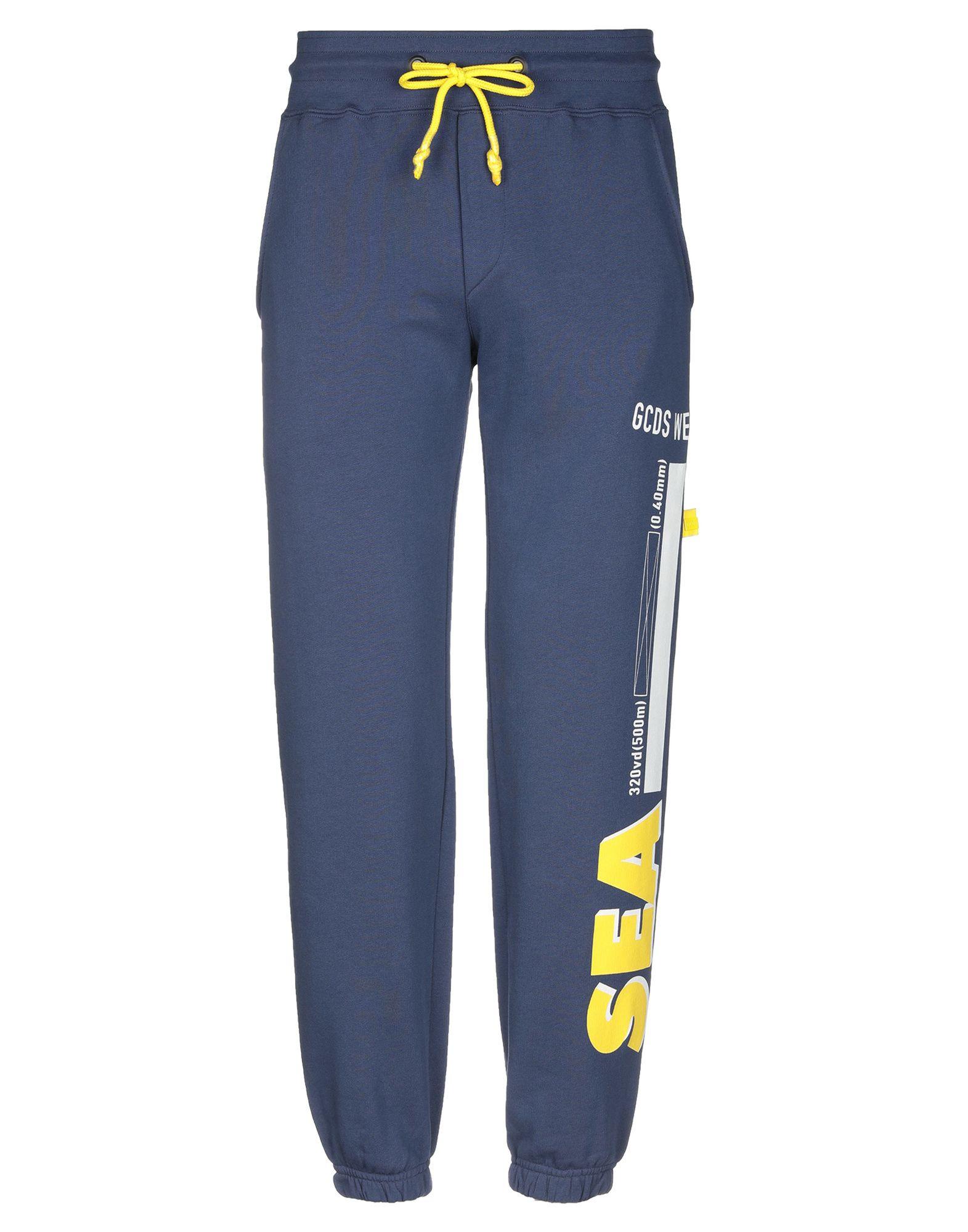 《送料無料》GCDS メンズ パンツ ブルー S コットン 100%