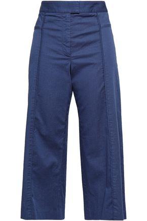 VERONICA BEARD Cropped cotton-blend wide-leg pants