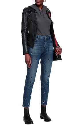 ZOE KARSSEN Embroidered high-risae slim-leg jeans