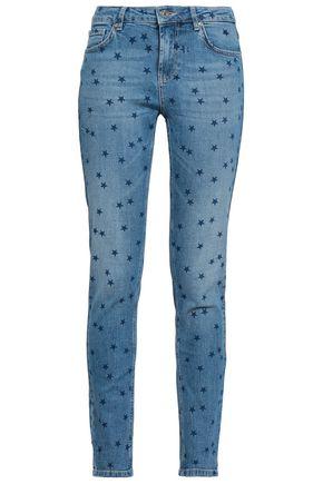 ZOE KARSSEN Printed mid-rise skinny jeans