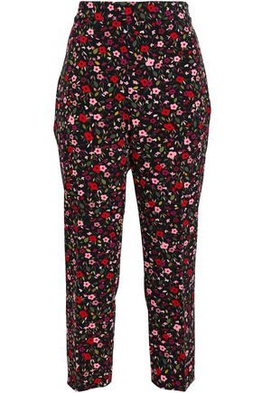 KATE SPADE New York Ma Cherie floral-print stretch-crepe tapered pants