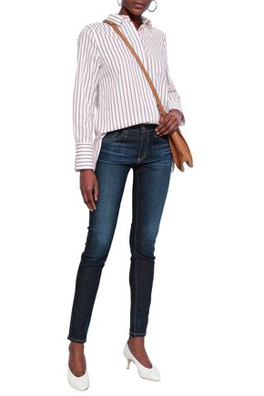 AG JEANS Faded mid-rise skinny jeans