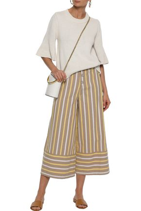 SEE BY CHLOÉ Striped cotton-twill culottes
