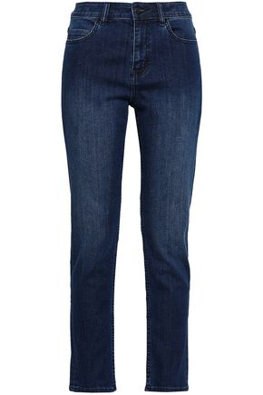 KATE SPADE New York Broome Street cropped high-rise slim-leg jeans