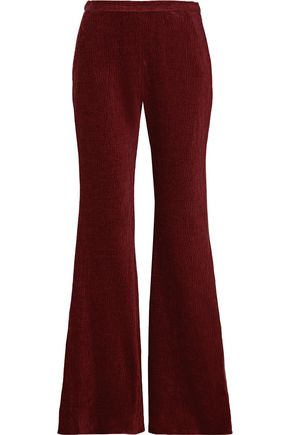 ROSETTA GETTY Embossed velvet wide-let pants