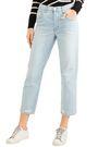 J BRAND Wynne cropped distressed high-rise straight-leg jeans