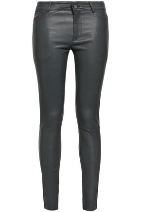 MUUBAA Textured-leather skinny pants