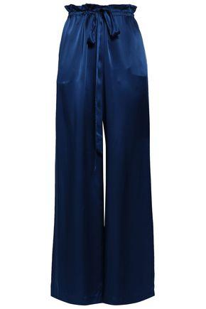 SACHIN & BABI Belted satin wide-leg pants