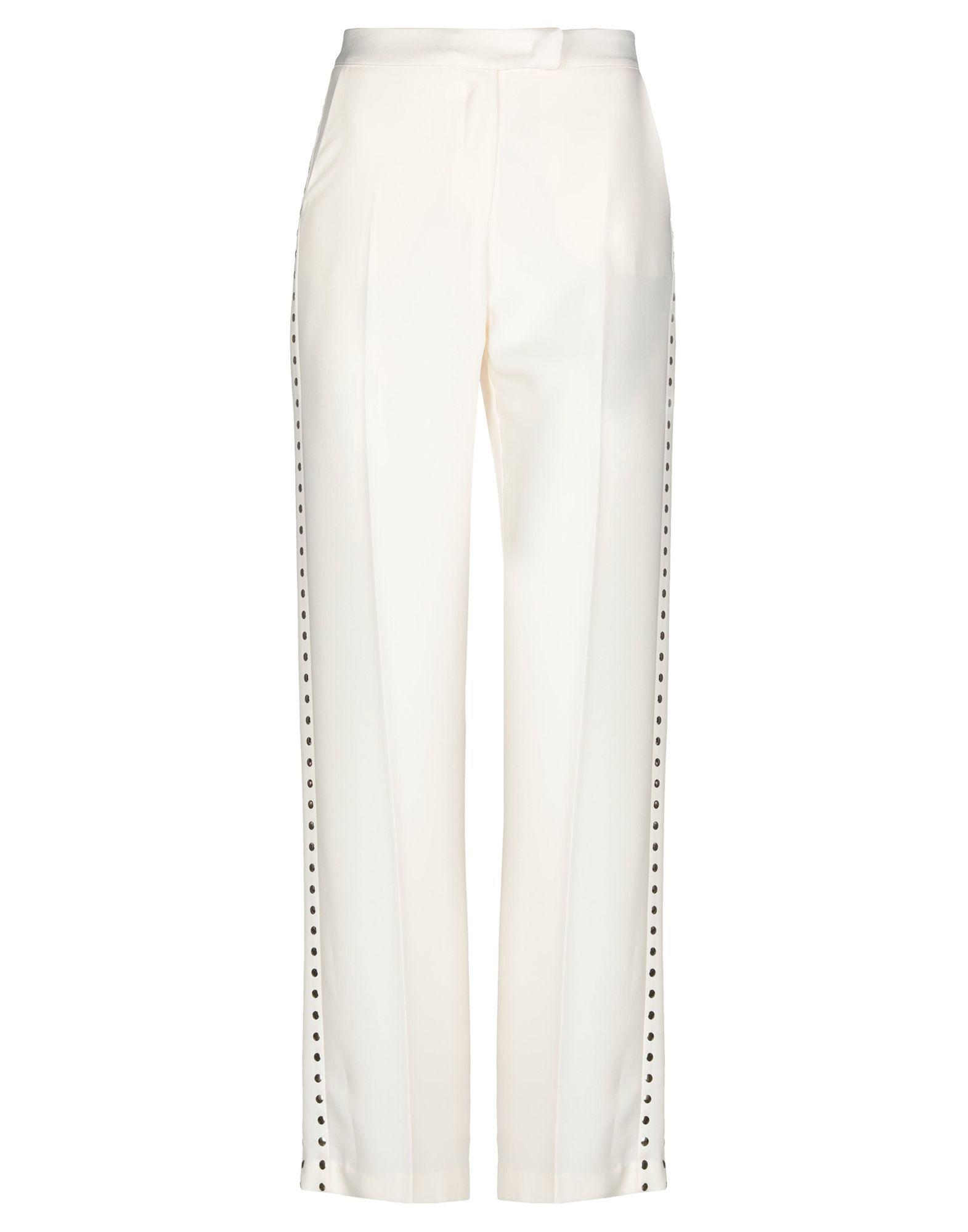 BABYLON Повседневные брюки брюки широкие из однотонного жаккарда