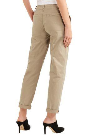 J BRAND Inez cropped cotton-blend twill straight-leg pants