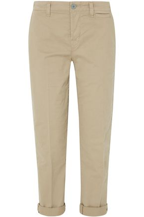J BRAND Inez cropped cotton-blend twill straight-leg pants