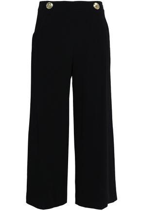DEREK LAM 10 CROSBY Button-embellished woven wide-leg pants