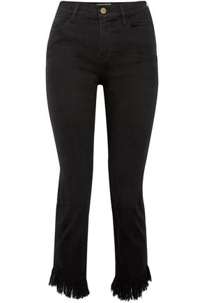 FRAME Cropped mid-rise slim-leg jeans