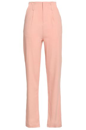 PAPER London North pleated woven straight-leg pants