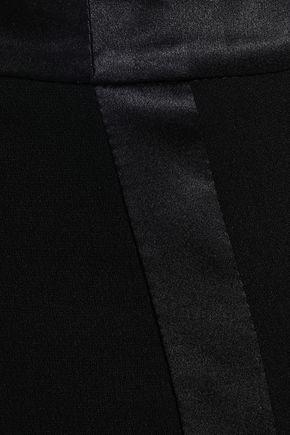 CINQ À SEPT Fringe-trimmed crepe bootcut pants